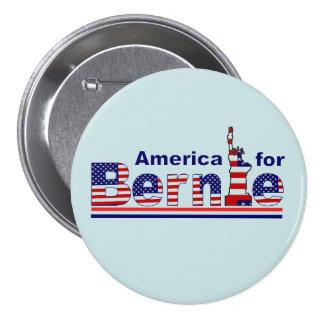 América para Bernie Pin Redondo De 3 Pulgadas