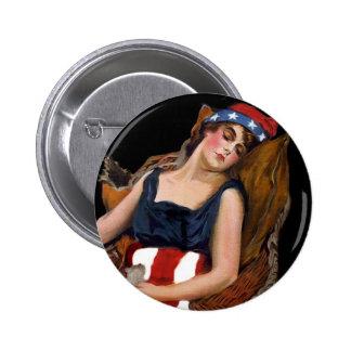 América para despertar WWI Pin Redondo 5 Cm