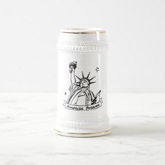América para siempre jarra de cerveza
