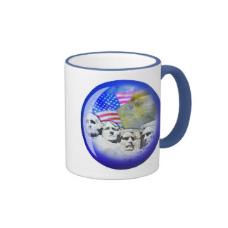 AMERICA PATRIOTIC RINGER COFFEE MUG