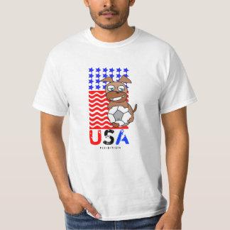 America Patriotic T-Shirt World Cup Soccer Dog