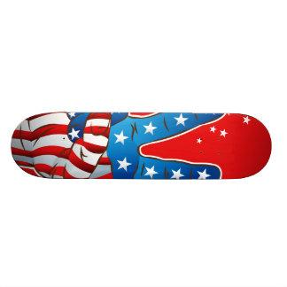America Patriotic Victory Hand Finger Skateboard Deck