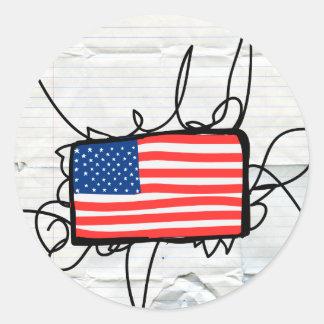 América Etiquetas Redondas