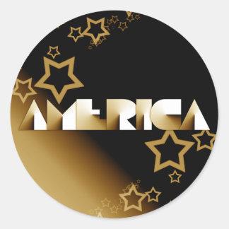 América Pegatina Redonda