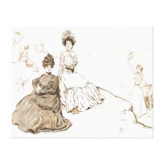 América pintoresca 1900 lienzo envuelto para galerias