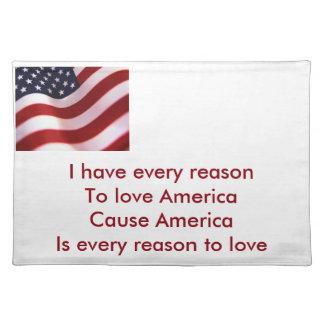 America Cloth Placemat