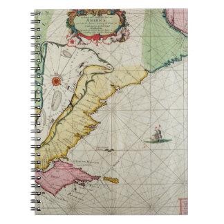 America, plate 17 from 'Le Nouveau et Grand Illumi Spiral Notebook