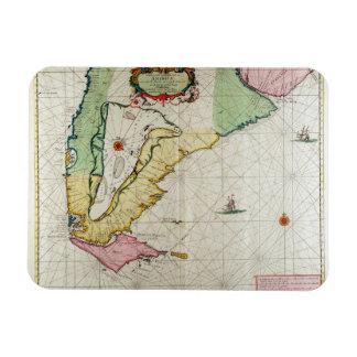 America, plate 17 from 'Le Nouveau et Grand Illumi Rectangular Photo Magnet