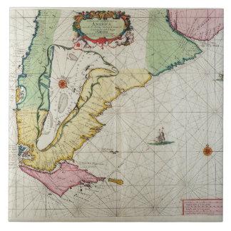 America, plate 17 from 'Le Nouveau et Grand Illumi Large Square Tile