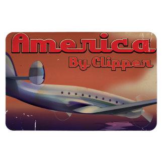 América por el poster del viaje del vintage de las imanes flexibles