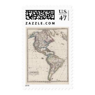 América por Stieler Sello Postal