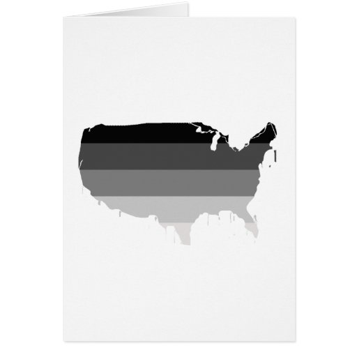 América recta tarjeta de felicitación