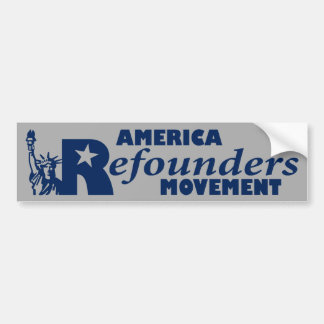 America Refounders Movement Logo Car Bumper Sticker