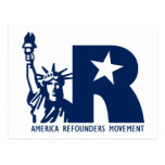 America Refounders Movement Logo Post Cards