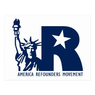 America Refounders Movement Logo Postcard