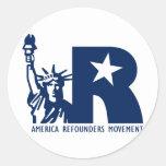 America Refounders Movement Logo Round Sticker