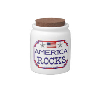 America Rocks! Candy Dishes