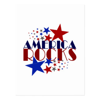 America Rocks Postcard