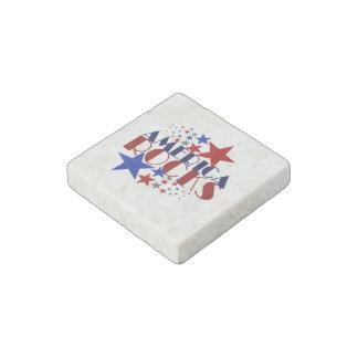 America Rocks Stone Magnet