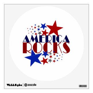 America Rocks Wall Sticker