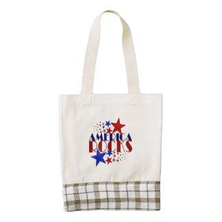 America Rocks Zazzle HEART Tote Bag