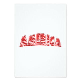 """América roja invitación 3.5"""" x 5"""""""