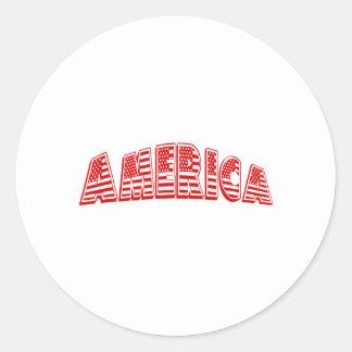 América roja pegatina redonda