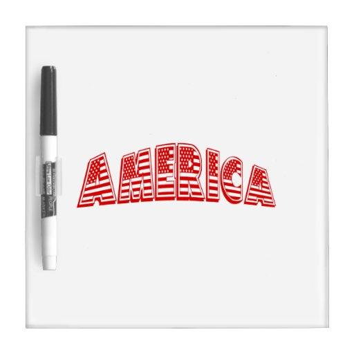 América roja pizarras