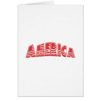 América roja tarjeta de felicitación