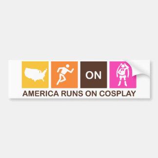 America Runs on Cosplay Car Bumper Sticker