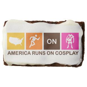 America Runs on Cosplay Chocolate Brownie
