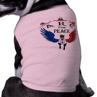 América Rusia China para la paz Playera Sin Mangas Para Perro