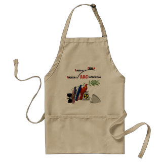 America Russia China for world peace Adult Apron