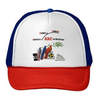 America Russia China Trucker Hat