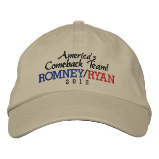 America s Comeback Team Romney Ryan 2012 Cap Embroidered Baseball Caps