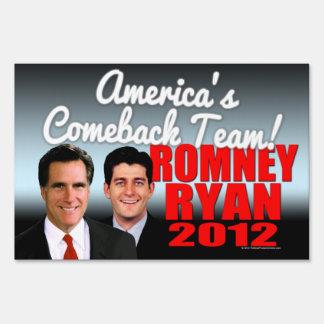 America s Comeback Team Lawn Sign
