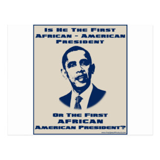 America 's First African President Postcard