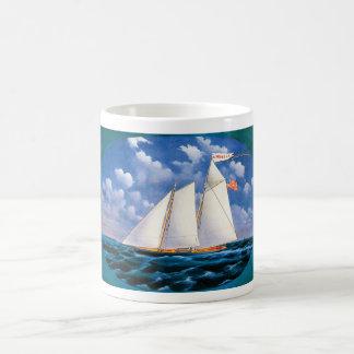 America (schooner yacht) by James Bard Magic Mug