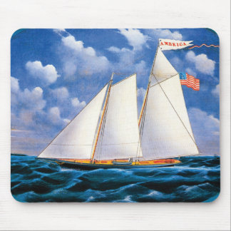 America (schooner yacht) by James Bard Mouse Pad