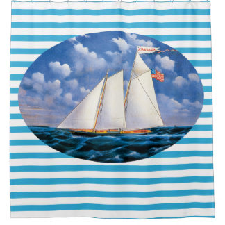 america schooner yacht by james bard shower curtain