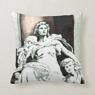America sculpture from the Old US Customs House Throw Pillow