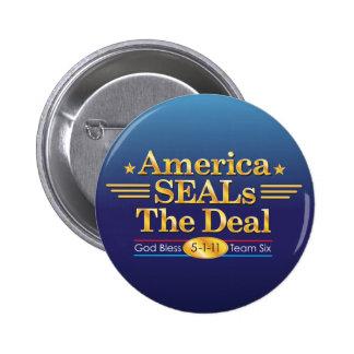 America SEALs The Deal_God Bless Team Six Button