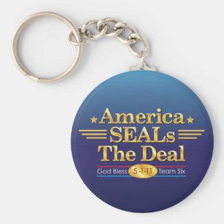 America SEALs The Deal_God Bless Team Six Key Chain