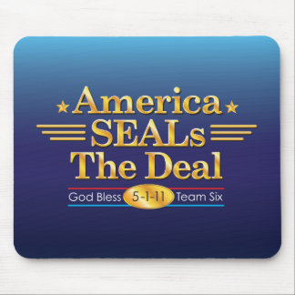 America SEALs The Deal_God Bless Team Six Mouse Pad