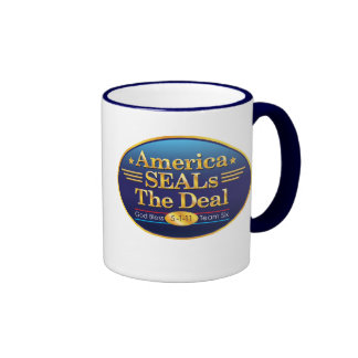 America SEALs The Deal_God Bless Team Six Ringer Coffee Mug