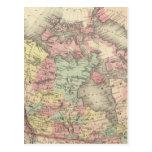 América septentrional tarjetas postales