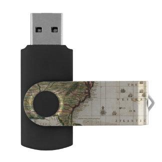 América Septentrionalis Memoria USB 2.0 Giratoria