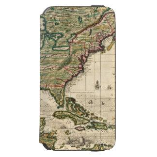 América Septentrionalis Funda Cartera Para iPhone 6 Watson