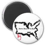 America Shaves Off Her Bush 2 Inch Round Magnet