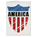 America Shield Greeting Card